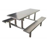 高实用性不锈钢餐桌 使用寿命长 学校食堂工厂员工食堂用